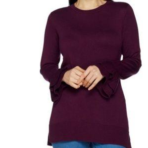 NWOT XL Isaac Mizrahi Bell Sleeve Sweater